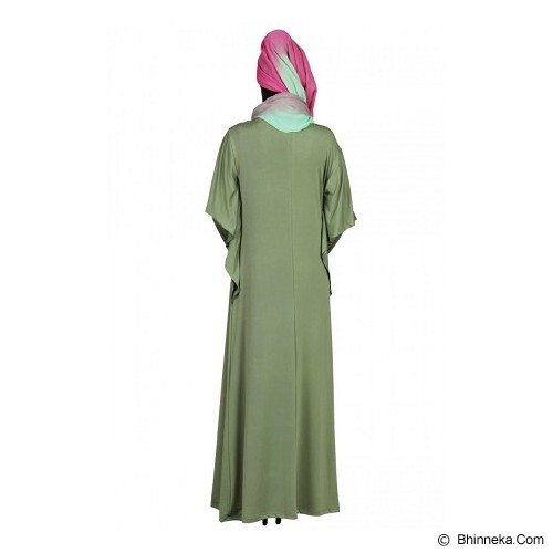 ASTHER Maxi Wing Sleeve All Size - Green - Gamis Wanita