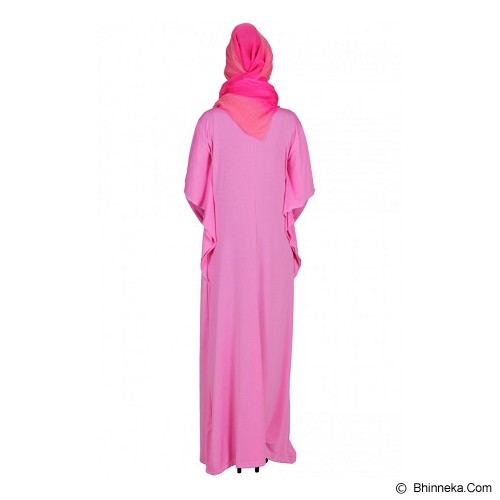 ASTHER Maxi Wing Sleeve All Size - Pink - Gamis Wanita