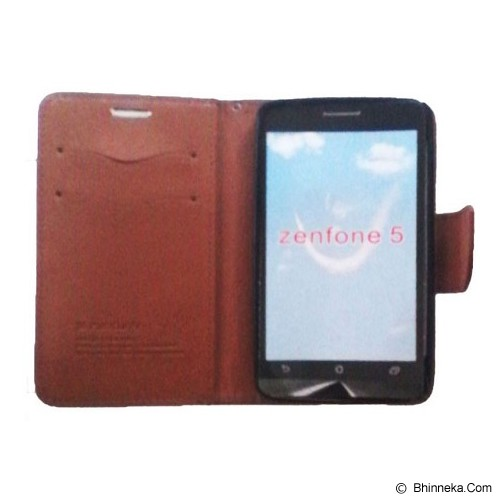 SATUEMPAT Asus Zenfone 5 Wallet Mercury Goospery - Black Brown - Casing Handphone / Case