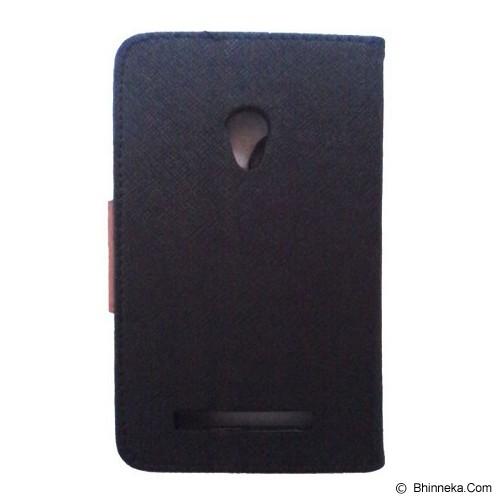 SATUEMPAT Asus Zenfone 5 Wallet Mercury Goospery - Black Brown - Casing Handphone / Case