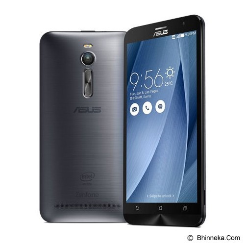 ASUS Zenfone 2 (16GB,2GB RAM Quad core Z3580) [ZE551ML] - Glacier Grey/Silver (Merchant) - Smart Phone Android