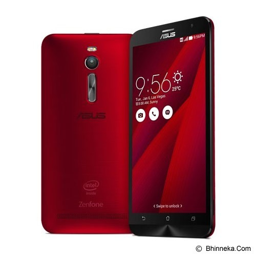 ASUS Zenfone 2 (16GB,2GB RAM Quad core Z3580) [ZE551ML] - Glamour Red (Merchant) - Smart Phone Android