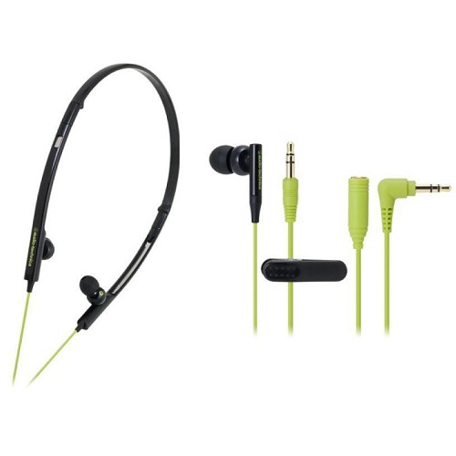 AUDIO-TECHNICA ATH-CKP330 BGR - Black Green - Earphone Ear Monitor / Iem