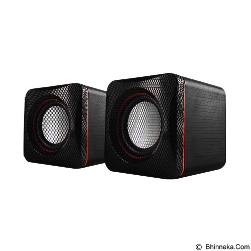 AUDIOBOX U-Cube USB Powered 2.0 Speakers - Black Red - Speaker Computer Basic 2.0