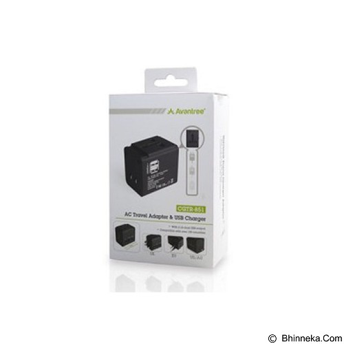 AVANTREE AC Travel Adapter & USB Charger International Charger [CGTR-851-BLK] - Universal Travel Adapter