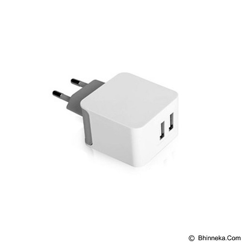 AVANTREE Dual USB Wall Charger 3.1amp for Tablet & Smartphone [CGTR-205EU-WHT] - Charger Handphone