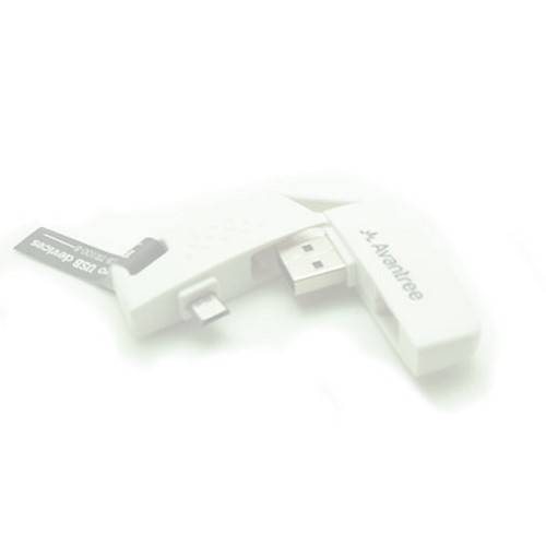 AVANTREE Keychain Micro USB - White - Cable / Connector Usb