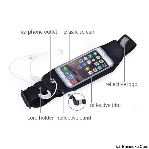AVANTREE Running Belt Wallaroo [KSAM-006P] - Black - Arm Band / Wrist Strap Handphone