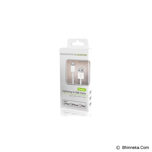 AVANTREE Swan Sync & Charge Lighning Cable - White - Cable / Connector Usb