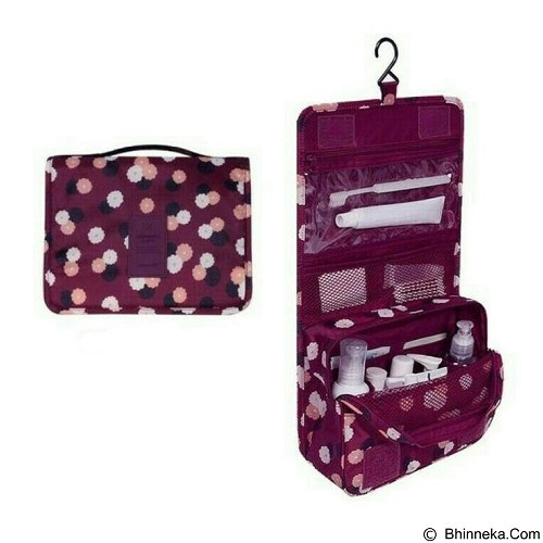 AZISTA SHOP Toiletresh Waterfroof Pouch Daisy - Maroon (Merchant) - Travel Bag