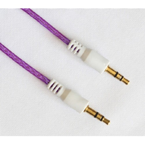 B-SAVE Cable Audio Connection Cord Jack 3.5mm Male To Male 1M - Purple - Cable / Connector Analog