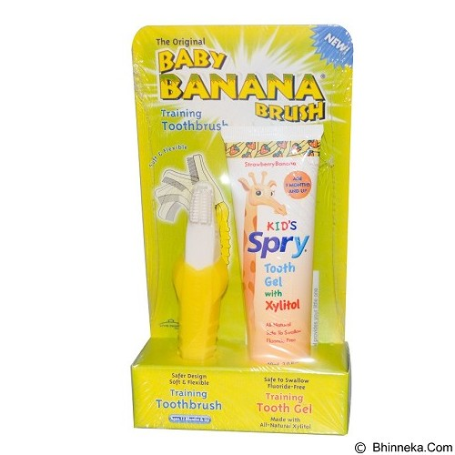 BABY BANANA BRUSH Spry Tooth Gel Combo [BB0742] (Merchant) - Sikat Gigi Bayi dan Anak