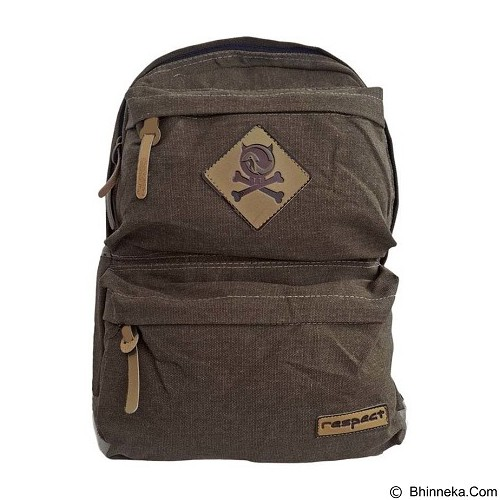 BAG & STUFF Canvas Respect Backpack - Coffee (Merchant) - Backpack Pria