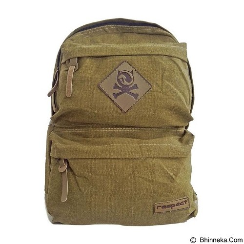 BAG & STUFF Canvas Respect Backpack - Khaki (Merchant) - Backpack Pria