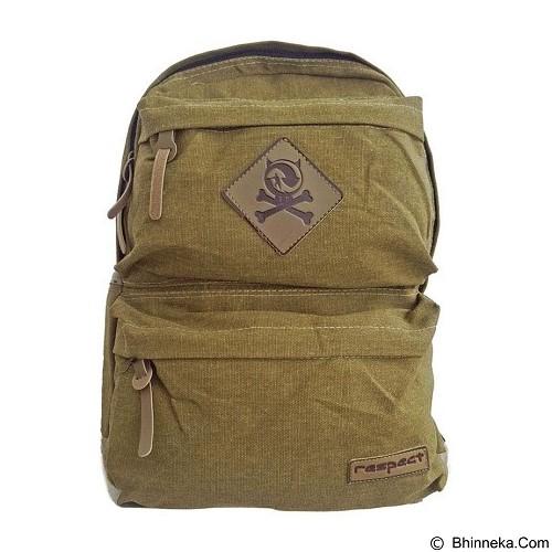 BAG & STUFF Canvas Respect Backpack - Khaki (Merchant) - Backpack Pria