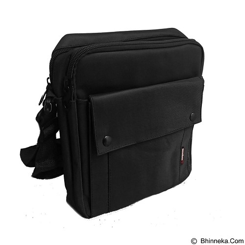 BAG & STUFF Gress Messenger Bag - Black (Merchant) - Shoulder Bag Pria