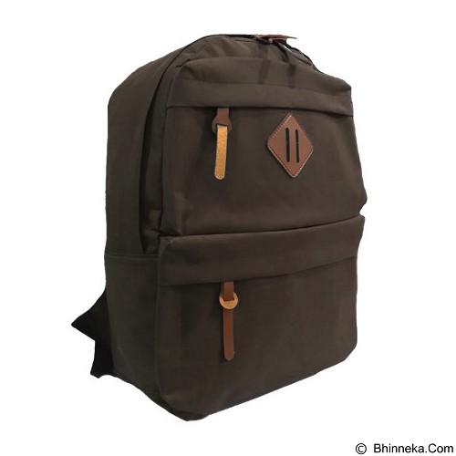 BAG & STUFF Korean Universal Backpack - Brown (Merchant) - Shoulder Bag Pria