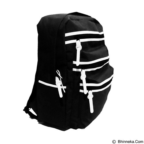 BAG & STUFF Oxford Backpack - Black (Merchant) - Backpack Pria