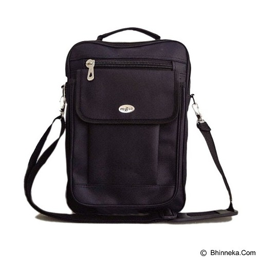 POLO Messenger Bag - Black (Merchant) - Shoulder Bag Pria