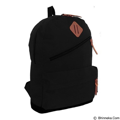 BAG & STUFF Rookie Tas Ransel Kasual - Black - Backpack Pria