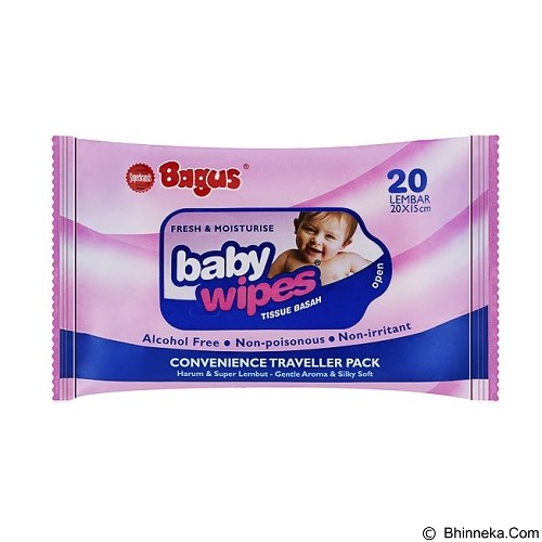 BAGUS Baby Wipes 20s - Baby Wipe / Tissue Basah