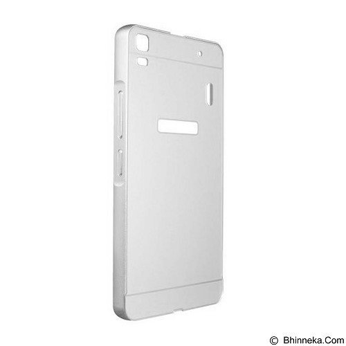 BAKULANS Bumper Back Case for Lenovo A7000 - Silver (Merchant) - Casing Handphone / Case