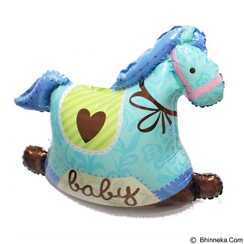 BALON HUT Balon Foil Baby Shower Pony Horse - Blue (Merchant) - Balon