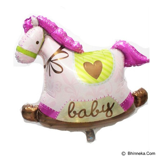 BALON HUT Balon Foil Baby Shower Pony Horse - Pink (Merchant) - Balon
