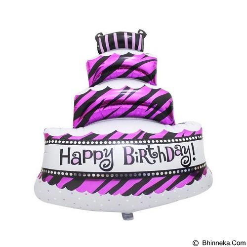 BALON HUT Balon Foil Cake Happy Birthday 30 cm (Merchant) - Balon