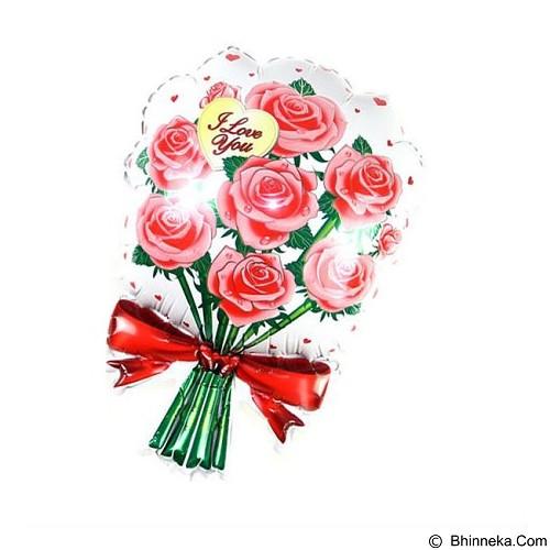 BALON HUT Balon Foil Flower Bouquet I Love You - Red (Merchant) - Balon