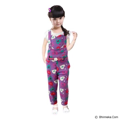 BANANANA Overall Anak Love Kiss Me 729 Size 12 [729-UNG412] - Purple - Jumper Bepergian/Pesta Bayi dan Anak