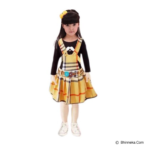 BANANANA Overall Skirt Anak Lemontache 728 Size 3 [728-KNG3] - Yellow - Dress Bepergian/Pesta Bayi dan Anak