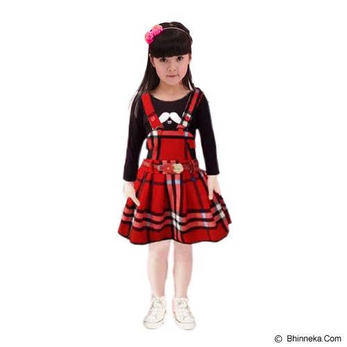 BANANANA Overall Skirt Anak Lemontache 728 Size 5 [728-MRH15] - Red - Dress Bepergian/Pesta Bayi dan Anak