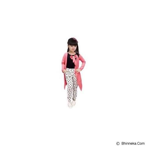 BANANANA Setelan Anak Polkadot Long Cardi 738 Size 10 [738-PNKPTH] - Pink White - Setelan / Set Bepergian/Pesta Bayi dan Anak