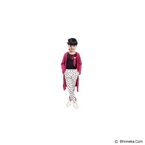 BANANANA Setelan Anak Polkadot Long Cardi 738 Size 12 [738-UNGPTH] - Purple White - Setelan / Set Bepergian/Pesta Bayi dan Anak