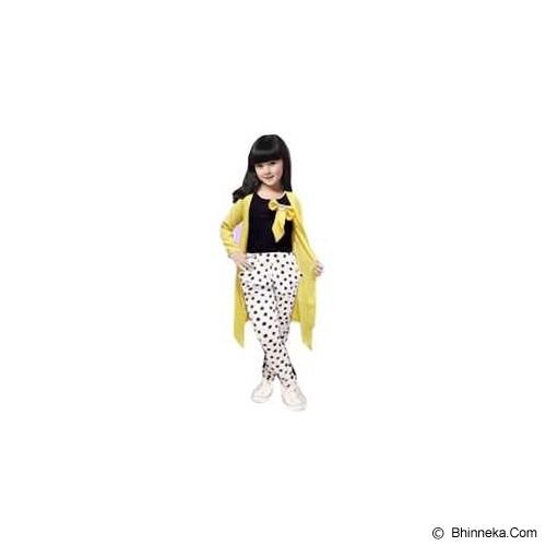 BANANANA Setelan Anak Polkadot Long Cardi 738 Size 8 [738-KNGPTH] - Yellow White - Setelan / Set Bepergian/Pesta Bayi dan Anak