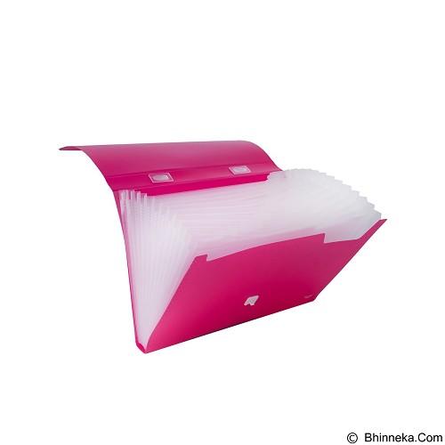 BANTEX Expanding File with Handle Folio [3603 19] - Pink (Merchant) - Expandable Folder