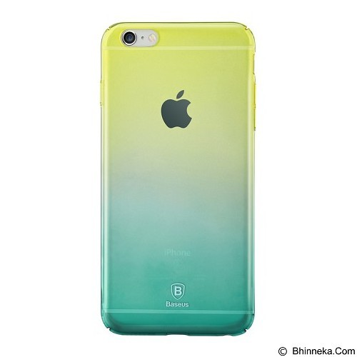 BASEUS Amber Case Apple iPhone 6 Plus/iPhone 6S Plus - Yellow Green (Merchant) - Casing Handphone / Case