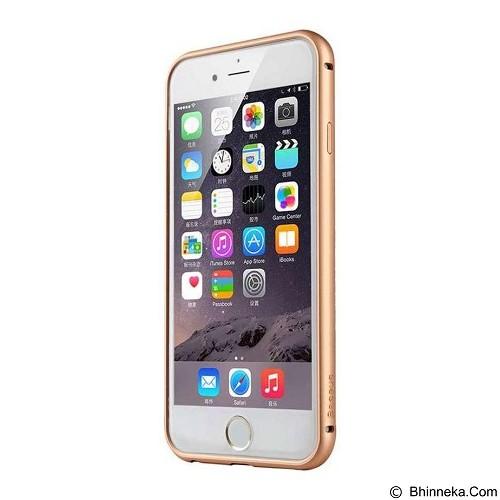 BASEUS Fusion Pro Series Metal Bumper + TPU Back Case for Apple Iphone 6 - Black/Gold (Merchant) - Casing Handphone / Case