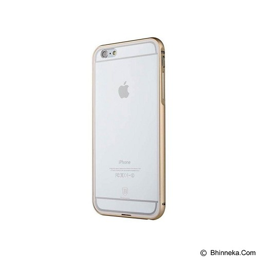 BASEUS Crystal Series Case iPhone 6 Plus - Gold (Merchant) - Casing Handphone / Case