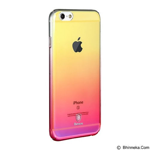 BASEUS Glaze Case iPhone 6/6s - Pink (Merchant) - Casing Handphone / Case