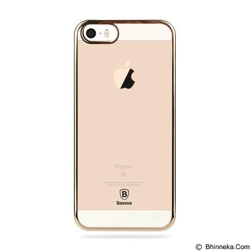 BASEUS Glitter Case for Apple iPhone 5/5s/SE - Luxury Gold - Casing Handphone / Case