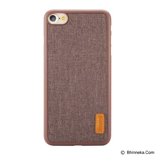 BASEUS Grain Case For Apple iPhone 7 Plus - Brown (Merchant) - Casing Handphone / Case