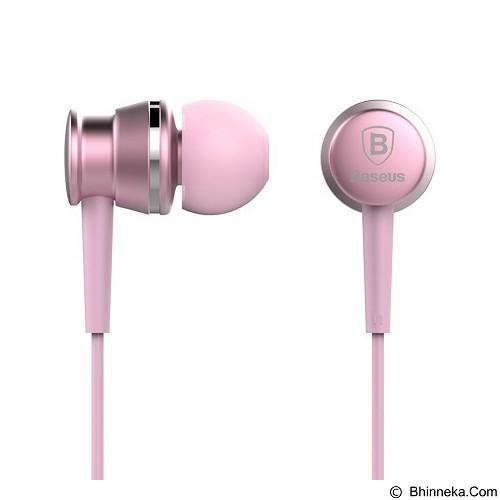 BASEUS Lark Series Wired Earphones - Sakura Silver - Earphone Ear Monitor / Iem