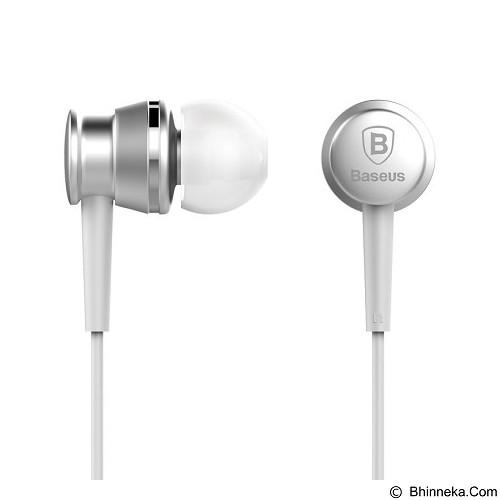 BASEUS Lark Series Wired Earphones - Silver - Earphone Ear Monitor / Iem