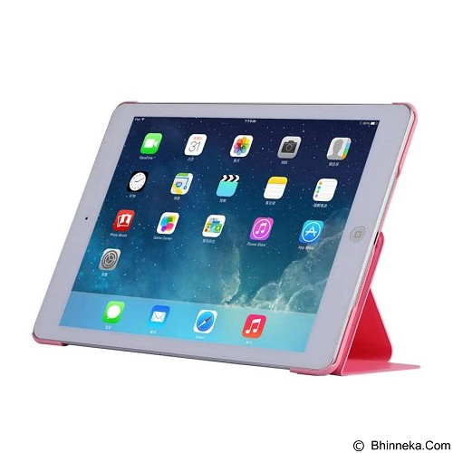 BASEUS Nappa Case Apple iPad Air [LTAPIPAD5-TS04] - Pink - Casing Tablet / Case