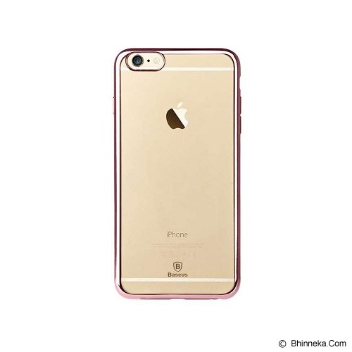 BASEUS Shining Case for Apple iPhone 6/6S - Rose Gold - Casing Handphone / Case