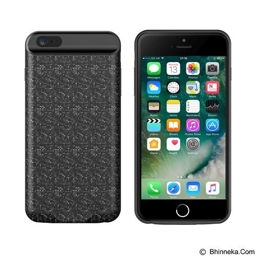 BASEUS Plaid Backpack Powerbank Case 3650mAh for Apple iPhone 6/6S+ [BSS-BC-6P/6SP-B] - Black (Merchant) - Casing Handphone / Case
