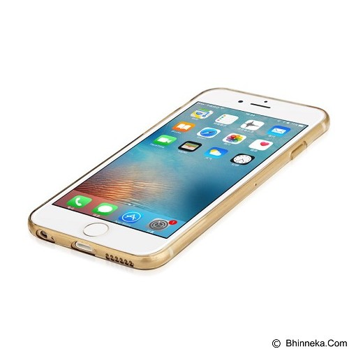 BASEUS Pure Case For Apple iPhone 6/6s - Transparent Golden - Casing Handphone / Case