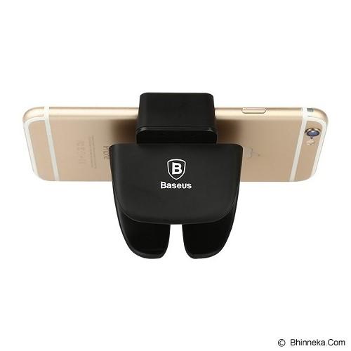 BASEUS Rein Series Steering Wheel Car Mount - Black - Gadget Docking